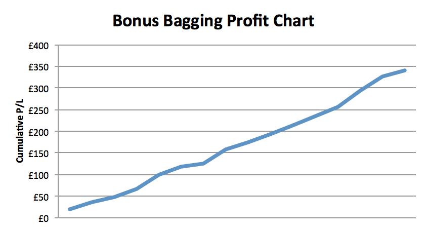 Bonus Bagging Profit Chart