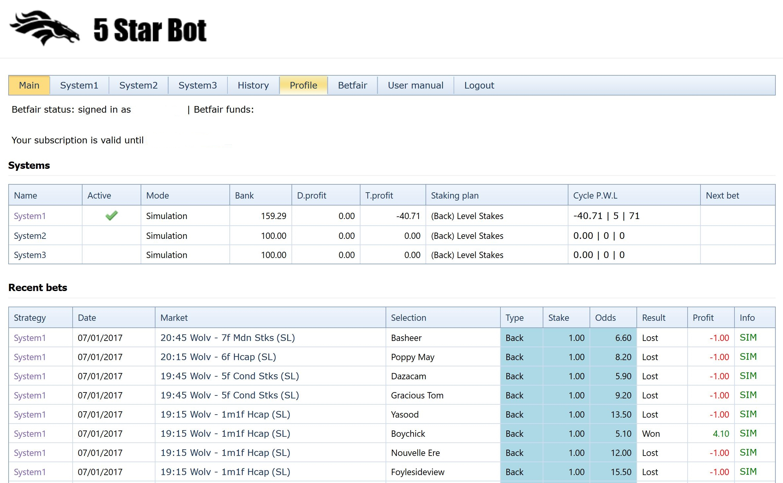 5 Star Bot Review Main Interface